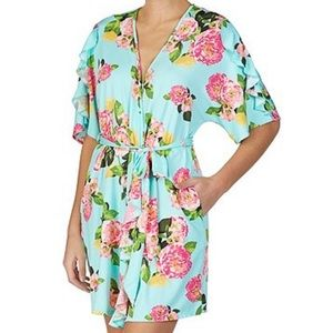 Betsey Johnson Front Print Robe